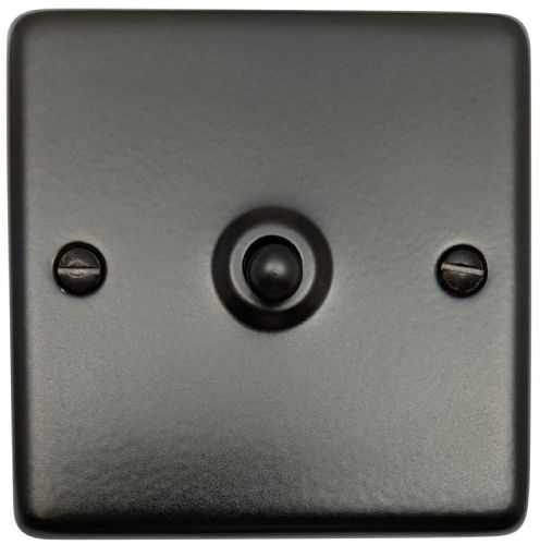 G&H CFB285 Standard Plate Matt Black 1 Gang Intermediate Toggle Light Switch